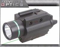 Vectop Optics Doublecross Tactical LED Pistol Flashlight Green Laser Combo Handgun Sight 200 Lumens Weapon Light
