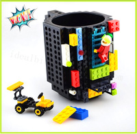 Hot Sale DIY Creative Brick Mug Building Blocks Coffee Cup 350ml Block Puzzle Mug Non Toxic