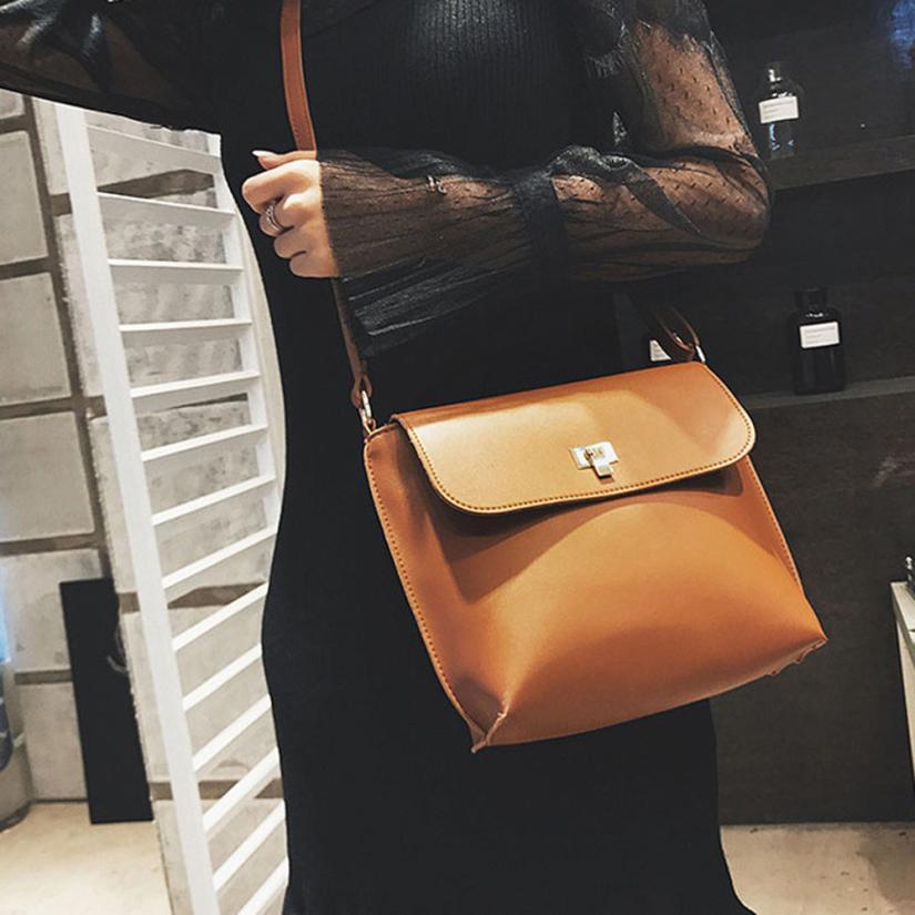 2018 новейшие модные женские Ретро Искусственная кожа Сумка Lady чистый цвет пряжки замок, Кожаный Клатч # t