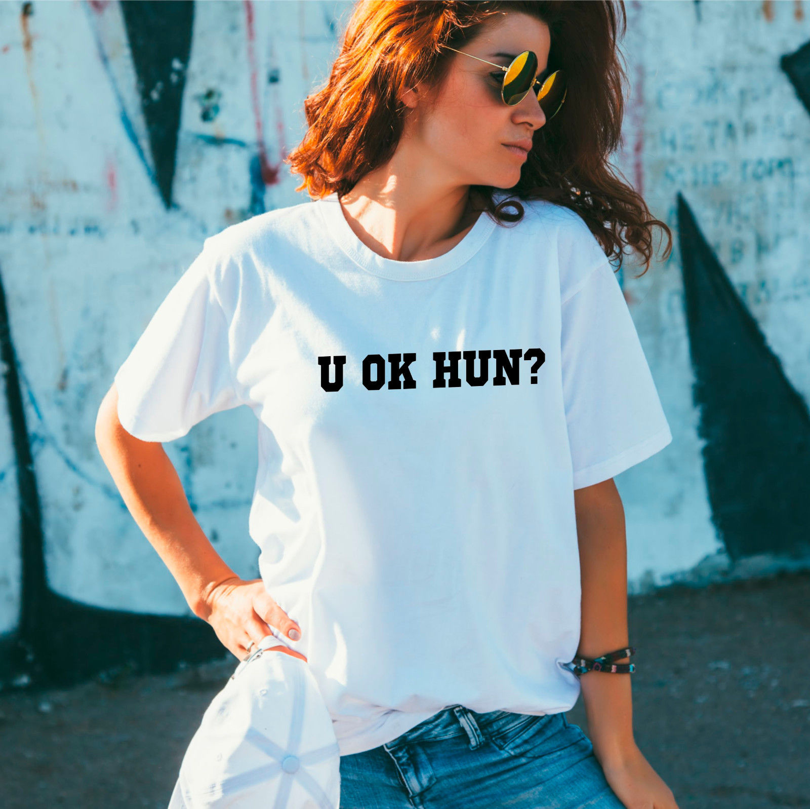 U Ok Hun? T-shirt, Gift For Her, Slogan Sarcastic Shirt,Funny T-shirt New T Shirts Funny Tops Tee Unisex
