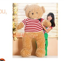 the huge lovely  teddy bear toy big plush  bear toy  with white and red stripe cloth doll birthday gift about 160cm