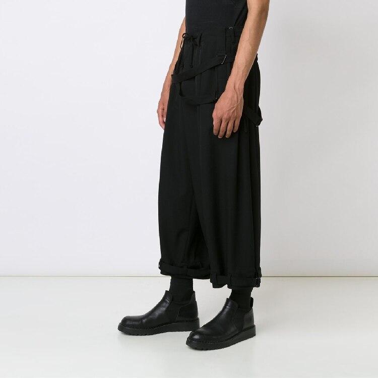 Ropa Original Negro Moda Pasarela Tamaño Estilista Vinculante Harem Trajes 2017 Suelta 27 Casual Pantalones Más 44 Traje YwnqxaxF