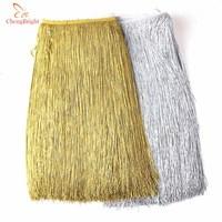 Beautiful 10 Yards Silver Fringe Trim Tassel Fringe Trimming Latin Dress Curtain Home Accessories 100cm Wide Lace Ribbon Tassel