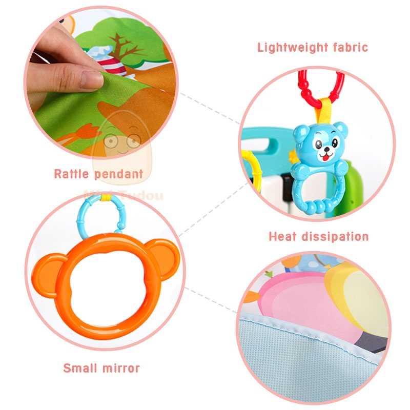 Детский гимнастический ТАПИС-пазл, развивающий коврик, игрушки, детский музыкальный игровой коврик с пианино-клавиатурой, детский фитнес-ковер, подарок для детей
