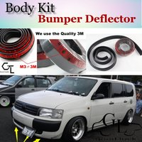For TOYOTA Probox Pro Box 2002~2015 Bumper Lip / Front Spoiler Deflector Car Scratch Proof Adhesive Strip / Body Kit