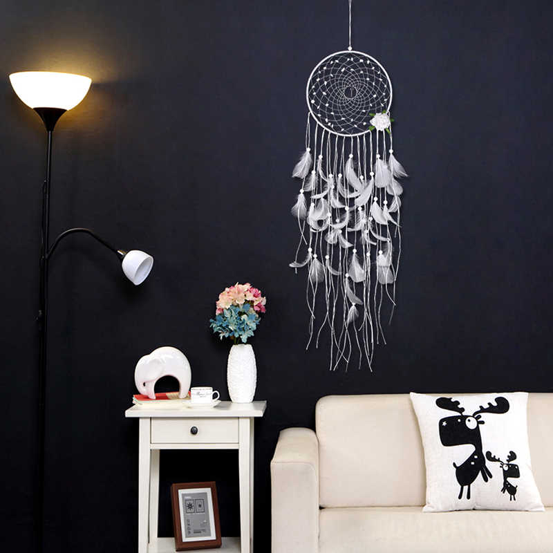 2018 New Wind Chime Ornaments Creative INS Dream Catcher Home Decoration Bedroom Living Room Wall Handmade Feather Pendant-60248