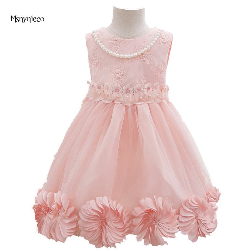 Little Girl Princess Dress 2017 Brand Summer Flower Kids Party Wedding Dresses for Girls Clothes Children Clothing vestidos new kids princess dress for girls dresses for summer party dress wedding flower girl dress girls clothing gift 6 colors
