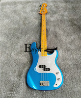Eagle. Butterfly, electric guitar, electric bass hand made shop, metal blue P bass, maple finger plate 22 electric bass customiz