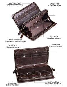 Image 3 - MISFITS erkek debriyaj cüzdan hakiki deri marka tasarımcısı vintage uzun cüzdan kart tutucu erkek büyük çanta cep telefonu el çantası