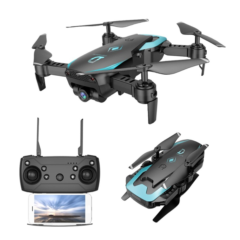 Global Drone FPV Selfie Dron Foldable Drone with Camera HD Wide Angle Live Video Wifi RC Quadcopter Quadrocopter VS X12 image