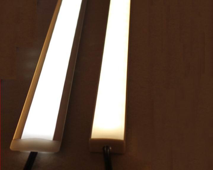 50pcs/lot 50CM 5630/5730 rigid strip LED Bar Light Kitchen 36LED 12V LED Hard Strip white 4500k 6000k  U  Aluminum falt cover