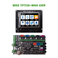 MKS GEN + MKS TFT28 colorful touch screen 3d printer DIY starter kit ATmega2560 mainboard stm32 lcd display Ramps electronics