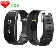 Сердечного Ритма Браслет H29 Смарт Браслет для IOS Android Health Tracker Шагомер Sleep Monitor Часы Anti Потерянный Вызов/МСМ напоминание