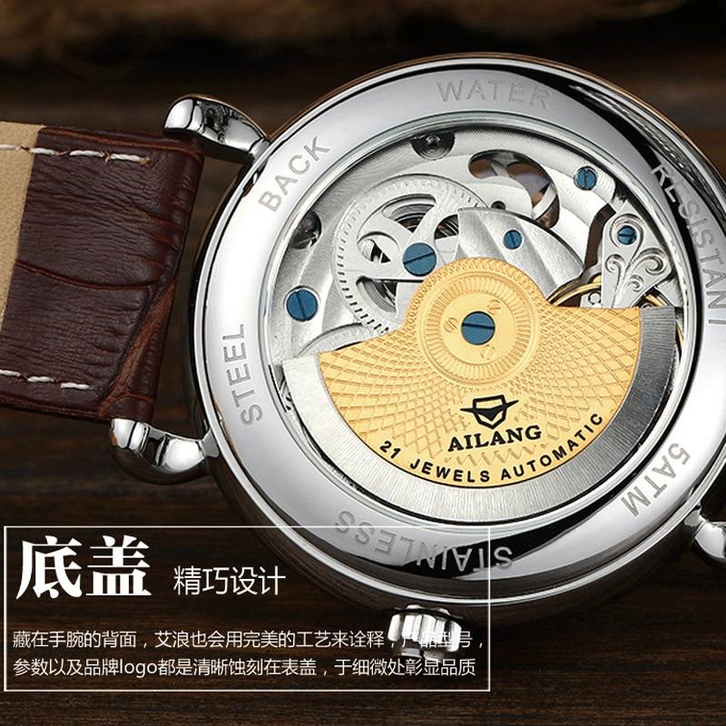 Deluxe automático reloj mecánico dial doble zona horaria función - Relojes para hombres - foto 6