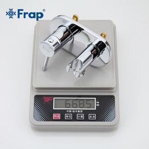 Image 5 - Frap Bidet Faucet Brass Shower Tap Washer Mixer Muslim Shower Ducha Higienica Cold & Water Mixer Crane Round Shower Spray F7505