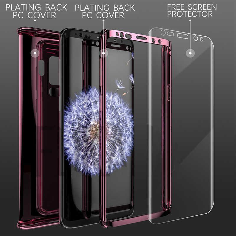 360 градусов покрытие зеркальный чехол для samsung Galaxy S9 S8 S10 Plus полное покрытие защитный для samsung Note 9 8 note 10 pro + Чехлы