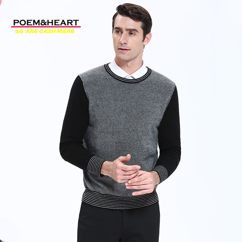 Nate Hakuna 2017 New Autumn Winter 100% Cashmere Men Sweater O-Neck Pullovers Full Sleeve Pure Color Men Knitwear