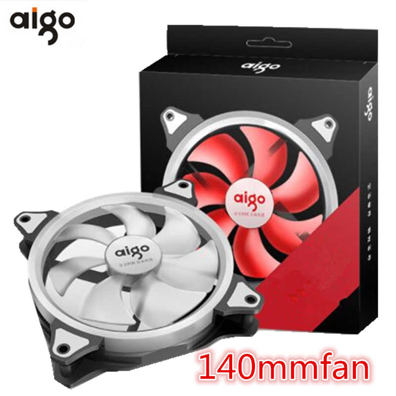Aigo Aurora Fan 140 Mm/14 Cm LED Berbentuk Cincin Solar Eclipse 12V 3pin + 4pin komputer PC Desktop Pendingin Cooler Diam Kipas Case