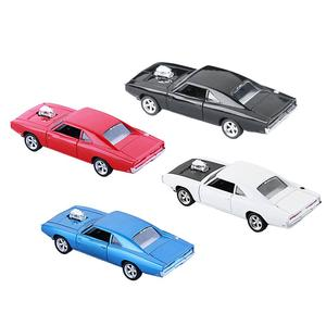 Image 3 - Charger Diecast Metal Model Car Sound And Light Pull back Vehicle Toy Back To The Future Red Bull Racing