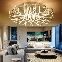 Новинка 2017 года Птичье гнездо Форма современные светодиодные светильники потолочные для гостиной и спальни домашние алюминиевый AC85-265V потолочного светильника