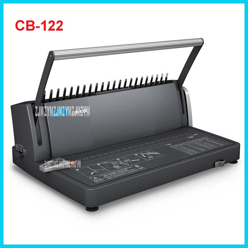 CB-122 Comb Binding Machine CB-122 Manual A4 Binds 450 Sheets Punches 12 Sheets / 2 sheets PVC cover Office Comb-type punching ripani женские кожаные сумки