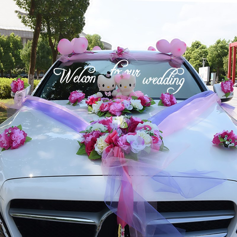 Искусственные Свадебные цветы автомобиль украшение искусственные цветы набор Декоративные цветы венки поплавок Декор свадебные Композиц...