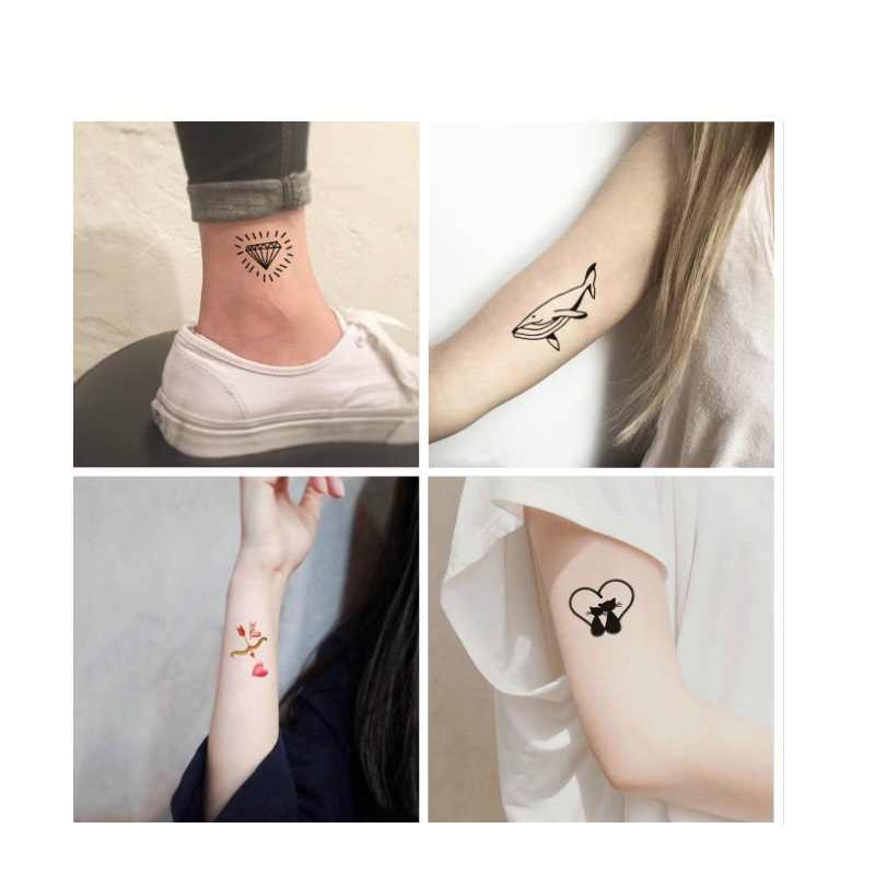 37017756c2f69 ... OCOOCOO 10pcs/set Temporary Tattoo Waterproof Of Male And Female Lovers  Of Small Fresh Tattoo ...