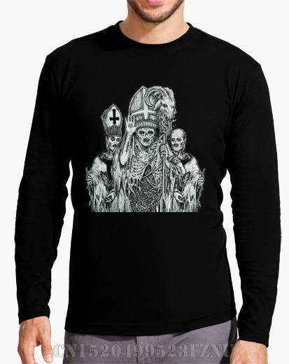 2017 Autumn and Winter Black friday t shirt homme Long Sleeve Satanic Cures Casual Long O neck Knitted 3d mens S-XXXL