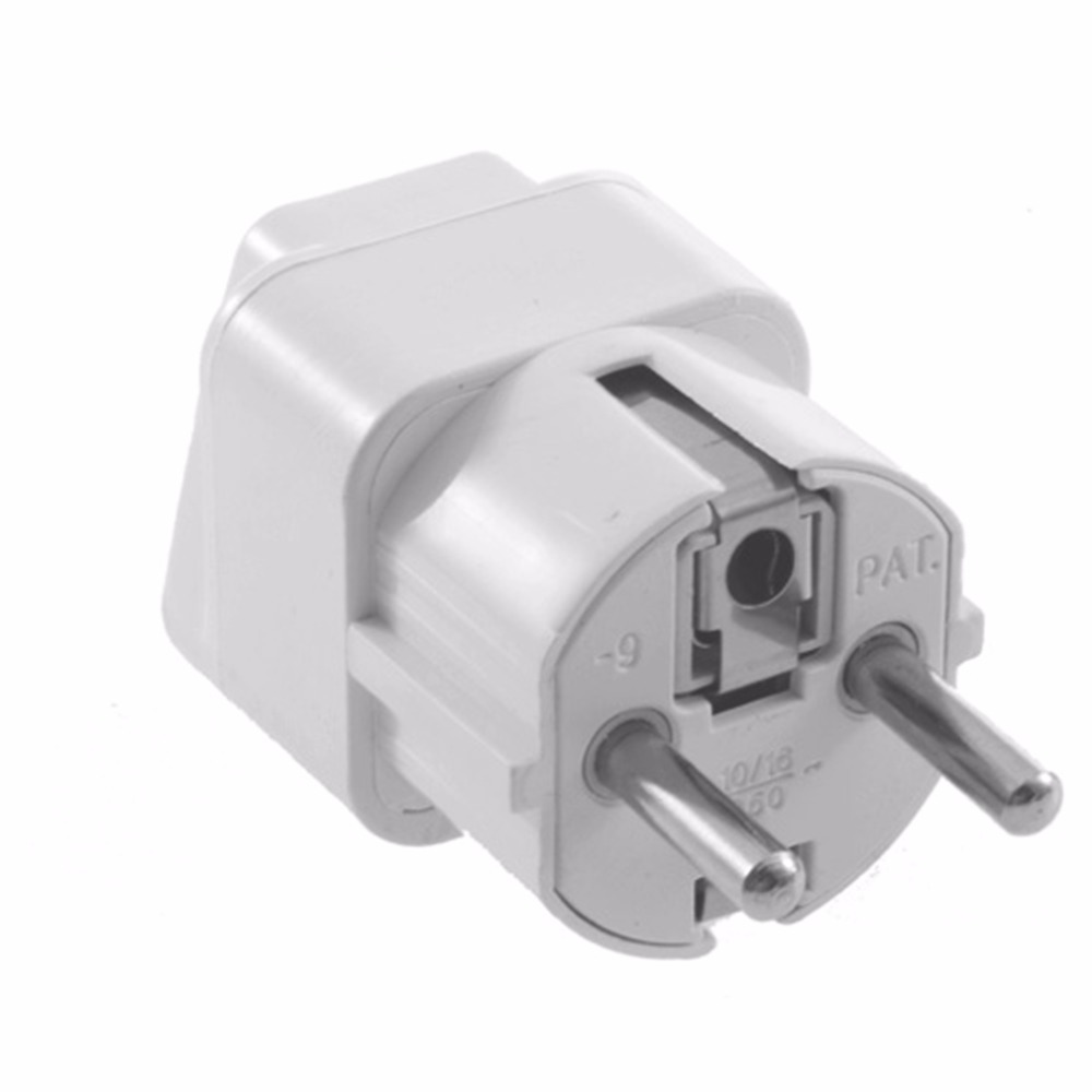1pc Universal Travel Adapter US AU UK to EU Plug Travel Wall AC Power Adapter 250V 10A Socket Converter White C1 hot new us au eu plug seat socket 2 gange on off switch wall mount plate ac 250v 10a