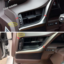 Lapetus Dashboard Side Air Conditioning AC Outlet Vent Cover Accessories Interior Trim 2 Pcs ABS Fit For Lexus ES 2018 2019 yimaautotrims auto accessory center warning lights air conditioning ac outlet vent cover trim 1 pcs abs for lexus es 2018 2019