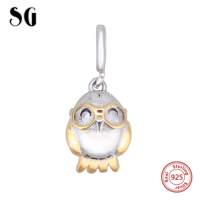Fit Authentic pandora Charms Silver sterling 925 original New style bird shape beads penguin Bracelets collect Pendant jewelry