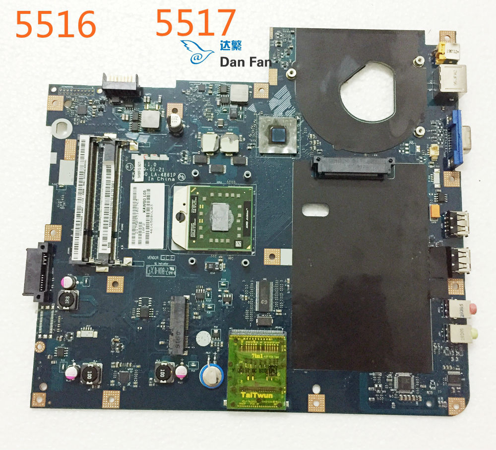 MBPEE02001 For ACER 5516 5517 Laptop Motherboard KAWG0 LA-4861P Mainboard 100%tested Fully Work