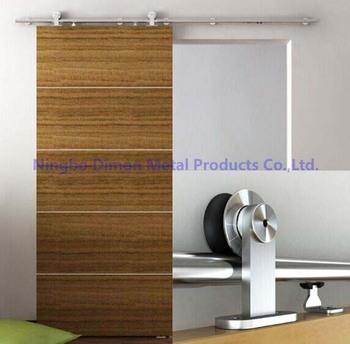 Free shipping Dimon stainless steel 304 high quality wood sliding door hardware DM-SDS 7101 without sliding rail цена 2017
