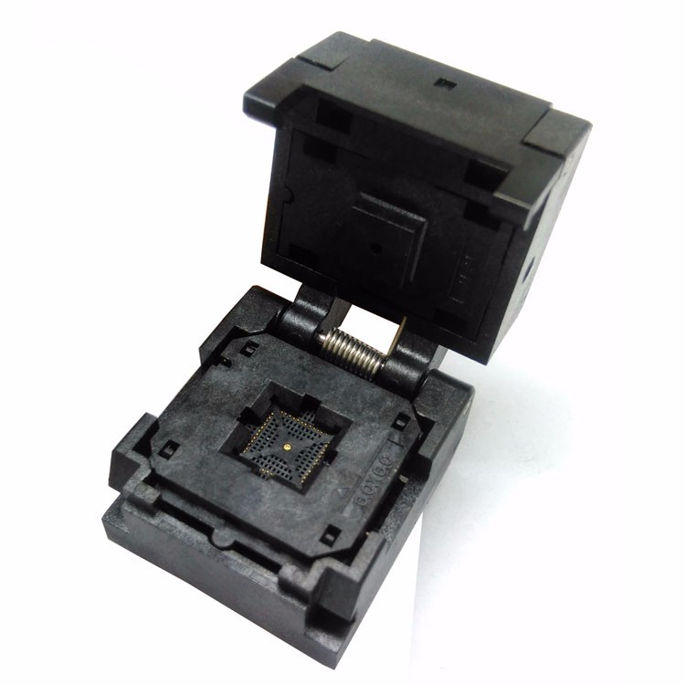 QFN44 MLF44 WLCSP44 Burn in Socket Pin Pitch 0.4mm IC Body Size 6*6mm Clamshell Flash Test Socket Adapter QFN44 burn-in socket freeshipping htqfp qfn48 to 0 5 mm dip48 qfn44 qfp48 qfp44 pqfp lqfp adapter plate