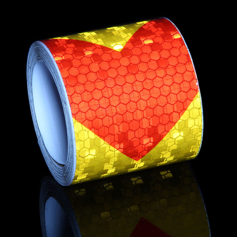 3M <font><b>Frame</b></font> Stickers <font><b>Bike</b></font> Trailer Reflective Strips Red Yellow Black Self Adhesive Film Arrow Sign Reflective Tape Bicycle <font><b>Decals</b></font> image