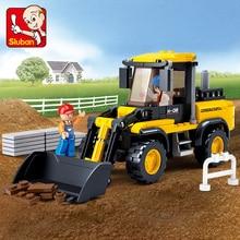 цена на Sluban 212Pcs Truck Blocks Forklift SimCity building blocks DIY Construction vehicles Creative bricks Toys for children