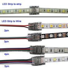 5 шт./лот 2pin 3pin 4pin 5pin Светодиодные ленты Разъем для 3528 5050 Светодиодные ленты для провода или тест-полоски для ленты соединения Применение терминалы