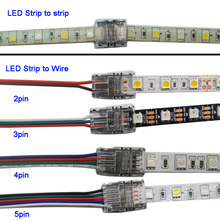 5pcs/lot 2pin 3pin 4pin 5pin LED Strip Connector for 3528 5050 led to Wire or Connection Use Terminals