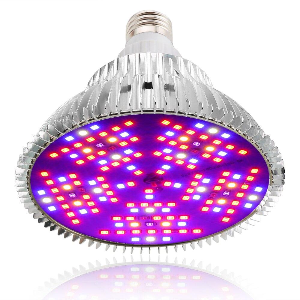 Полный спектр светодиодный светильник для выращивания E27 220 в 100 Вт Светодиодная лампа для роста растений лампа 3 режима диммируемая фитолампа для выращивания палаток