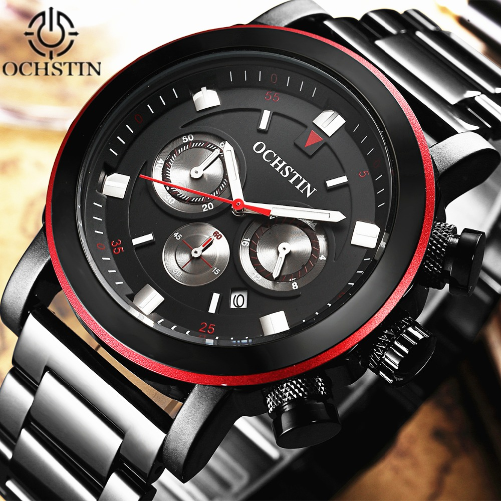 OCHSTIN Brand Watches Sport Men Quartz Watch Luxury Stainless steel Rose gold Business Waterproof Wristwatch Relogio Masculino ochstin luxury lover s watches waterproof luxury brand stainless steel quartz watch relogio masculino clock gold male wristwatch