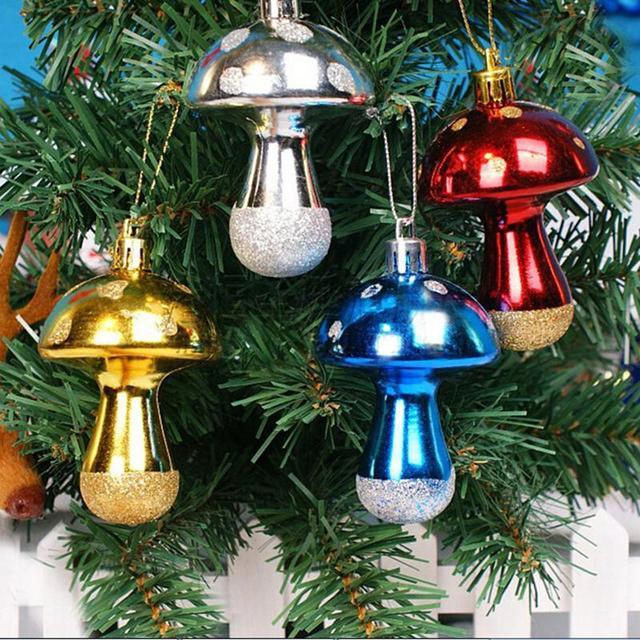 6Pcs Hanging Balls Mushroom Christmas Tree Baubles Ball Party Decoration  Ornament christmas decorations for home - 6Pcs Hanging Balls Mushroom Christmas Tree Baubles Ball Party