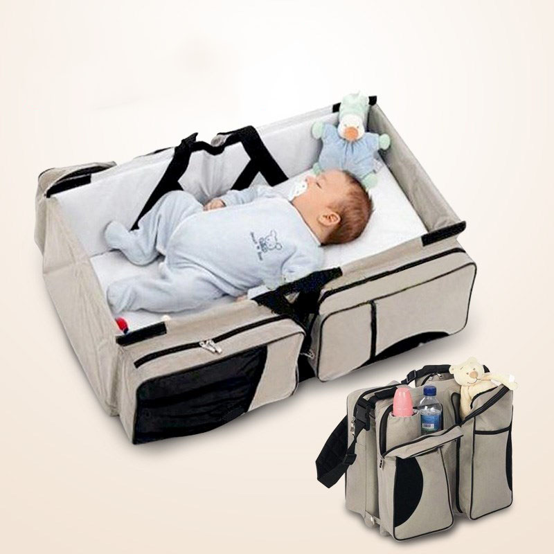 цена на Multi-function Protable Folding Baby Travel Crib Bed Two Using Mummy Packing Bag For Newborns Safety Outdoors Baby Carry Cot