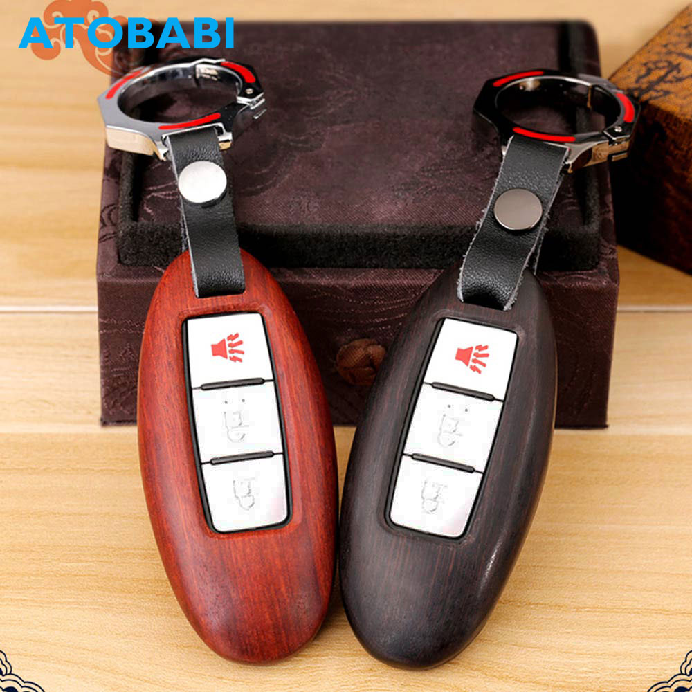 ATOBABI Wood Material Car Key Case for Nissan Infiniti EX FX G25 G37 FX35 FX50 EX25 EX35 FX37 EX37 Q60 QX50 QX70 JX35 Key Cover front wheel hub for infiniti ex35 fx35 g25 g35 g37 m35 m37 40202 cg110