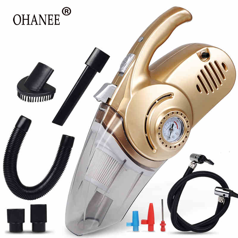 OHANNY car Vacuum cleaner wet and dry duster auto care with tire pressure gauge and air pump inflator Lighting and dust function