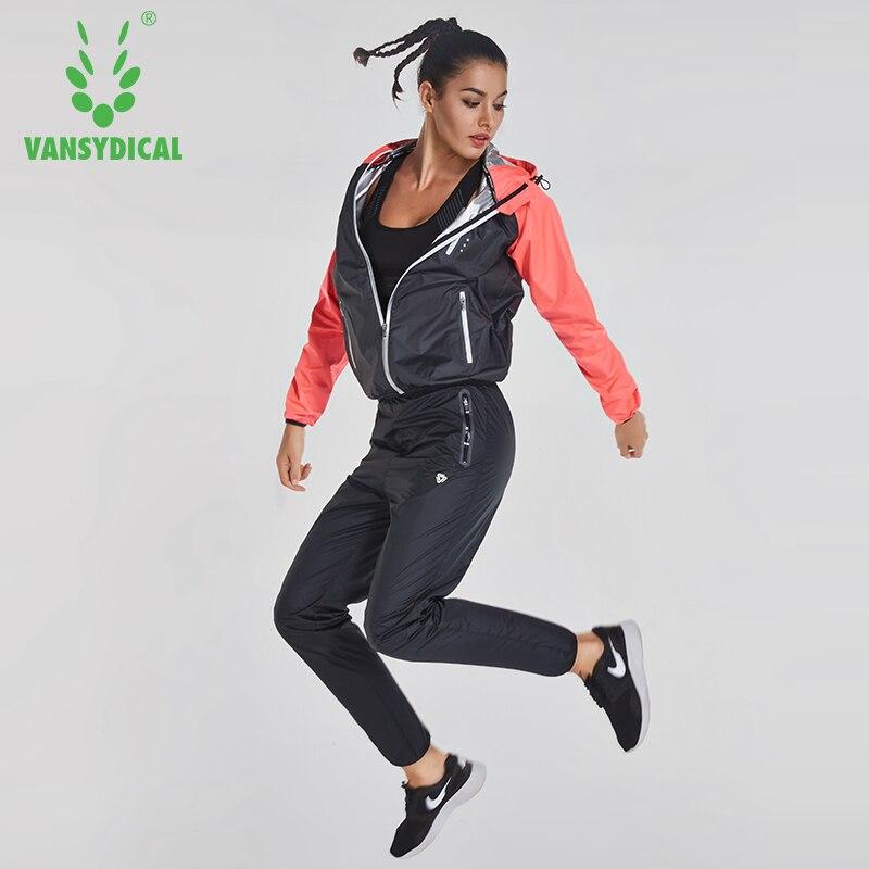 a978013b3ee0b Vansydical deportes trajes Sauna hombres mujeres gimnasio corriendo conjunto  Fitness al aire libre perder peso Jogging trajes rápido sudando chándales  en ...