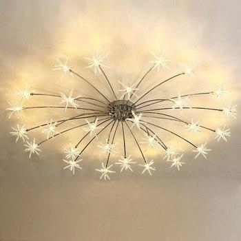 Modern LED Ceiling Light Ice Flower Glass Bedroom Kitchen Children Room Ceiling Lamp Designer Lighting Fixtures 110-240V