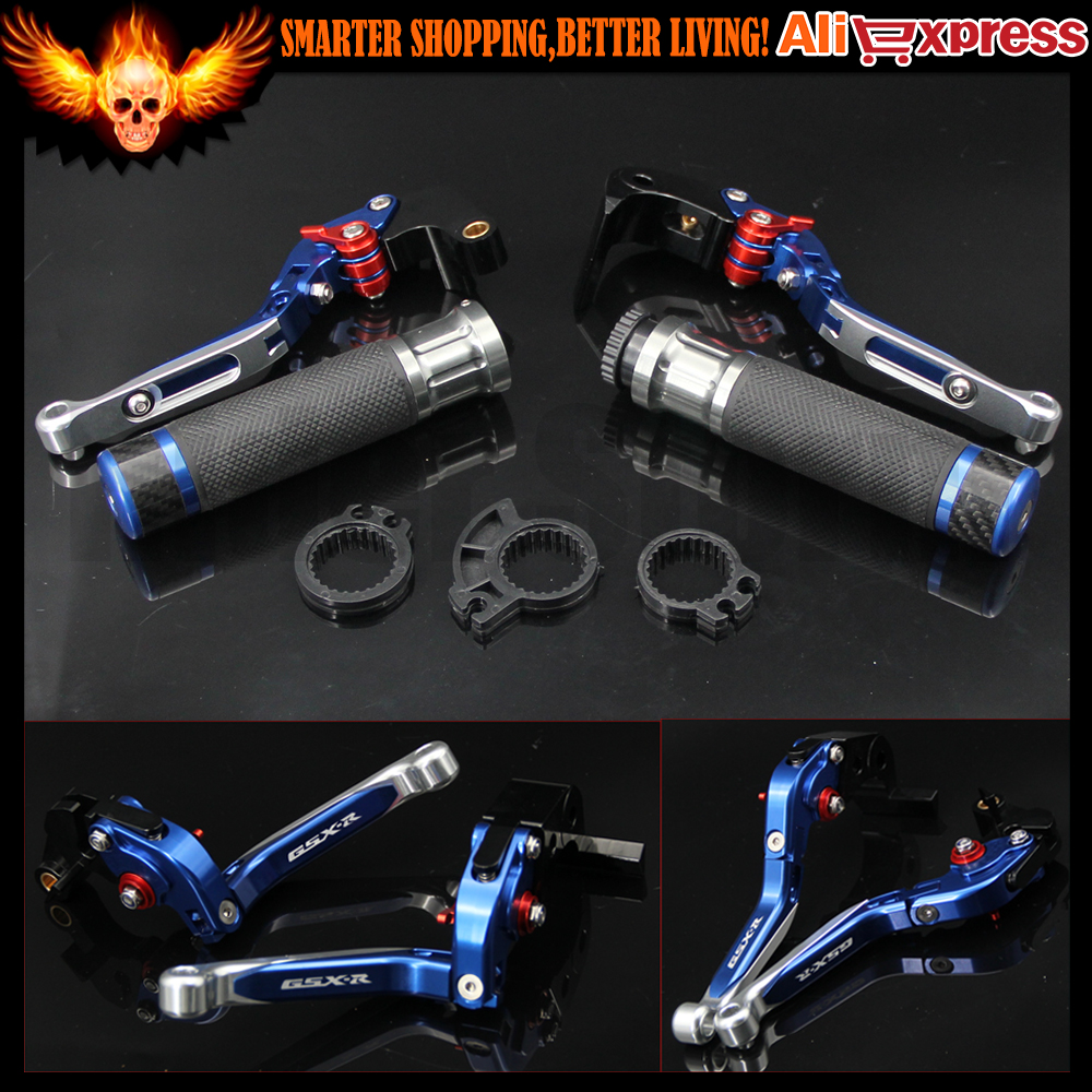 Motorcycle Adjustable CNC Brake Clutch Levers & Handlebar Hand Grips For SUZUKI For Suzuki GSXR600 2011-2016, GSXR1000 2009-2016