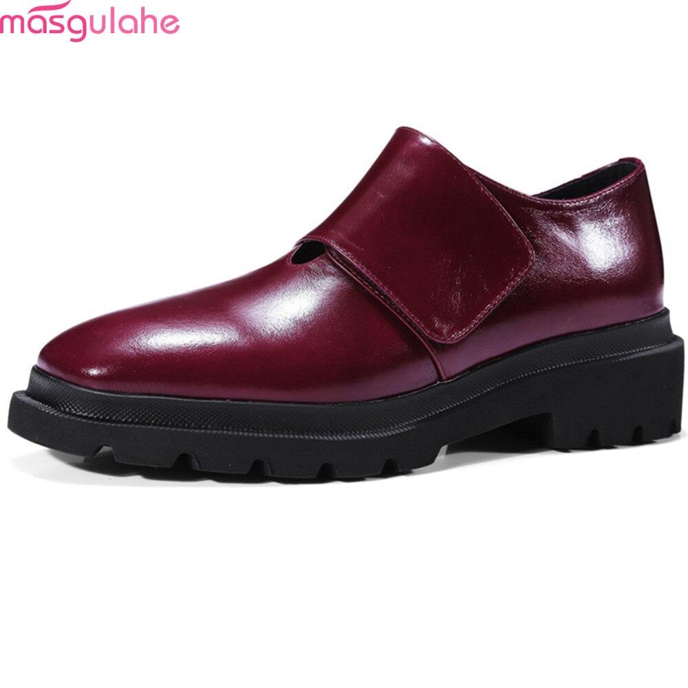 Cuadrados Llegada Tacones Negro vino Mujeres Del Zapatos Pie Moda De Bombas Dedo Nueva Otoño Rojo Primavera Tinto Vino Cuero Med Ocio Black Masgulahe Genuino FqA8wSw