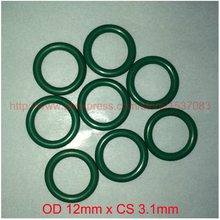 OD12mm*CS3.1mm viton fkm rubber o ring oring o-ring gasket seal 2piece size 550mm 542mm 4mm viton o ring seal dichtung green gasket of motorcycle part consumer product o ring