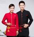 Uniformes de camareros de restaurante chino de moda uniformes de camareros de restaurante restaurante/hotel camarero camarera uniforme